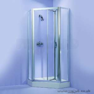 Ideal Standard Jado Showering -  Ideal Standard Joy Panels 800 Silver For Pentagonal Clear L8295aa