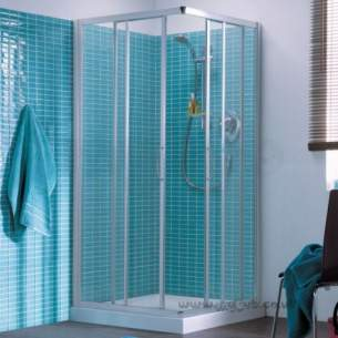 Trevi Shower Enclosures -  Ideal Standard Tipica A T2378yb Shrw Enc 80 X 80 Brush Sl