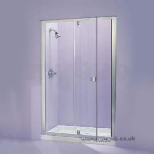 Trevi Shower Enclosures -  Armitage Shanks Tribune L8160 900 Side Panel Clr/p Slv