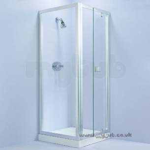 Trevi Shower Enclosures -  Armitage Shanks Tribune L8100 800mm Pivot Door Clr/wht