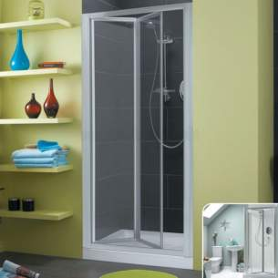 Trevi Shower Enclosures -  Ideal Standard Connect L8062aa Infold Door 900 Frame Sil Cl