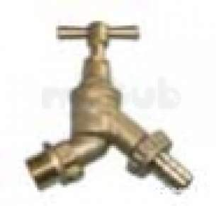 Plasson Gunmetal Valves and Fittings -  G/m Bib Tap- Double Check Valve 9056 1/3