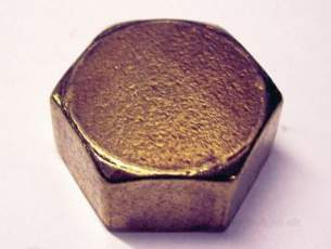 Brass Bushes Sockets and Plugs -  Midbras 15mm/1/2 Inch Blank Brass Capnut