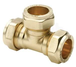 Plumb Center Compression Fittings -  Pegler Yorkshire Cb 28mm Compression Tee