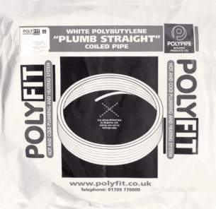 Polypipe Polyplumb Polyfit -  15mm X 150m Polyfit White Barrier Pipe