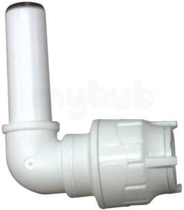 Polypipe Polyplumb Polyfit -  15mm Polyfit Spigot Elbow White 10