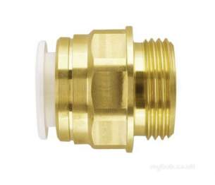 John Guest Speedfit Pipe and Fittings -  Speedfit 15mm X 1/2 Inch Bsp Brass Male Coupler Mw011504n