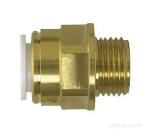 John Guest Speedfit Pipe and Fittings -  Speedfit 15mm X 1/2 Inch Bsp Brass Male Coupler