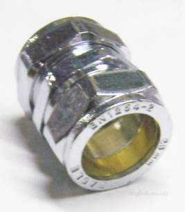Midbras Compression Fittings Chrome -  Midbras 28mm Comp Straight Coupling Cp