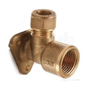 Plumb Center Compression Fittings -  Cb 15mm X 1/2 Inch Compression Wall Elbow