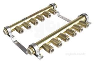 John Guest Underfloor Heating Range -  Speedfit Rail Manifold 6zone 22mm X 15mm