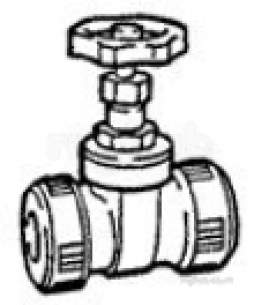 Hep2O Pipe and Fittings -  Hep20 15mm T/f Gate Valve Hx35 Hx35/15 Gy