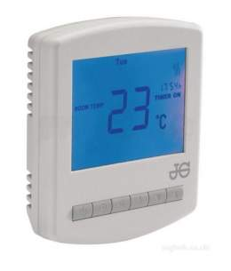John Guest Underfloor Heating Components -  John Guest Jgwprthw White Wireless Stat Including Hot Water Function