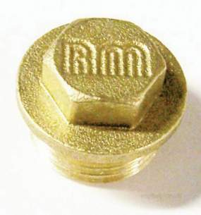 Brass Bushes Sockets and Plugs -  Midbras 1/4 Inch Flanged Brass Plug