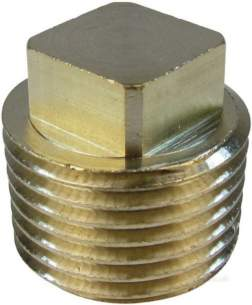 Brass Bushes Sockets and Plugs -  Midbras 1/2 Inch Brass Square Head Plug