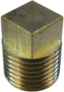 Brass Bushes Sockets and Plugs -  Midbras 1/8 Inch Brass Square Head Plug