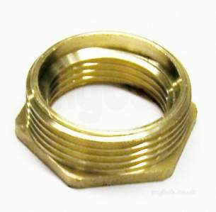 Brass Bushes Sockets and Plugs -  Midbras 1.1/2 Inch X 1/2 Inch Hexagonal Brass Bush