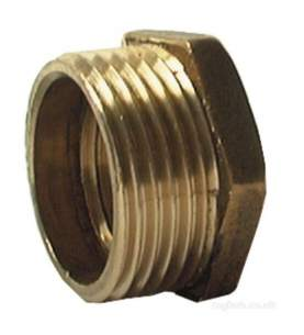 Brass Bushes Sockets and Plugs -  Midbras 3/4 Inch X 1/2 Inch Hex Brass Bush