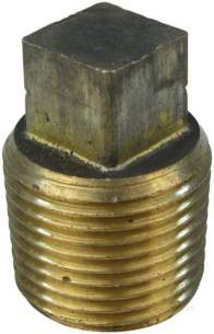 Brass Bushes Sockets and Plugs -  Midbras 3/8 Inch Brass Plug With Taper/thrd