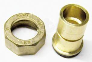 Gas Meter Union Fittings -  1 Inch X 28mm Brass Gas Meter Union And Washer
