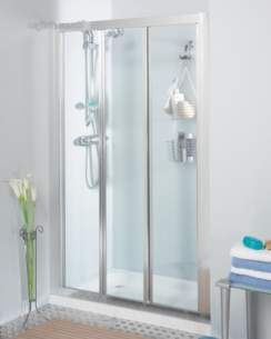 Roman Shower Enclosures -  Roman 900mm Jupiter Bi-fold Door Slv