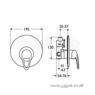 Ideal Standard Showers -  Ideal Standard Idyll Two D9005 Wall Mounted B/i Shower Mixer Cp
