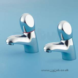 Armitage Shanks Domestic Brassware -  Armitage Shanks Accolade S7018 3/4 Inch Bath Pillar Taps Cp