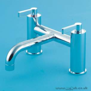 Ideal Standard Brassware -  Ideal Standard Silver E0072 Two Tap Holes Deck Bath Mixer Cp