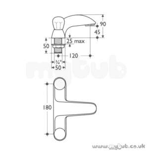 Ideal Standard Brassware -  Ideal Standard Waterways E6910 T/flow Bath Filler Cp