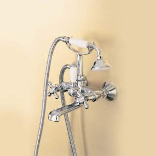 Ideal Standard Brassware -  Ideal Standard Kingston E6175az Two Tap Holes Wall Mount Bath Mixer And Kit Lg