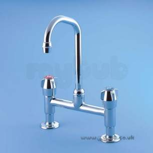 Armitage Shanks Commercial Brassware -  Armitage Shanks Nimbus S7975 1/2 Inch Single Flow Pillar Mixer Cp