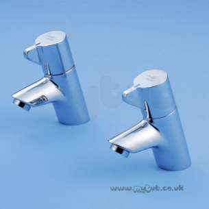 Armitage Shanks Commercial Sanitaryware -  Armitage Shanks Contour 21 Basin Plr R-mtd Chrome Pair
