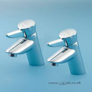 Armitage Shanks Commercial Brassware -  Armitage Shanks Nuastyle S7107 Bath Pillar Taps Cp