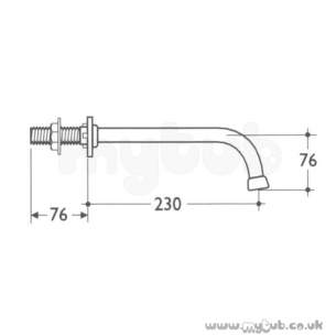 Armitage Shanks Commercial Brassware -  Armitage Shanks S9315aa Wall Outlet Spray Nozzle Cp