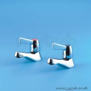 Armitage Shanks Commercial Brassware -  Armitage Shanks Alterna 2 S7185 1/2 Inch Qt Basin Taps Cp