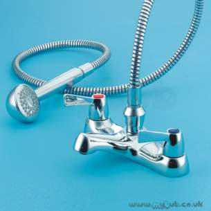Armitage Shanks Commercial Brassware -  Armitage Shanks Alterna S7770 Quad Bath/shower Mixer Cp