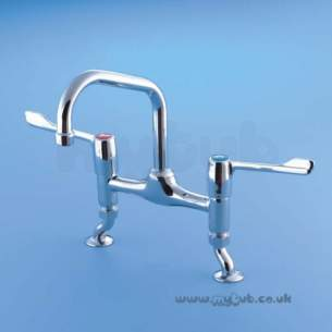 Armitage Shanks Commercial Brassware -  Armitage Shanks Markwik S8275aa D/flow Pillar Mixer Cp