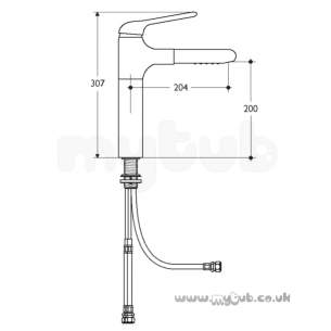 Ideal Standard Brassware -  Ideal Standard Ceraluna A3816aa Sink Mixer P/out Cp