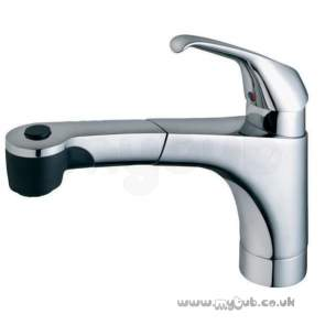 Ideal Cera Brassware -  Armitage Shanks Ceravie Sl Ktchn Mixer C/w P/out Spout Chr