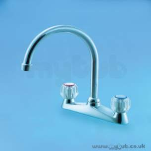 Armitage Shanks Domestic Brassware -  Armitage Shanks Fairline S7916 Deck Sink Mixer Wh
