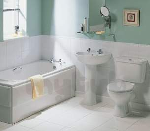 Ideal Standard Packs -  Ideal Standard New Baronet Bath Pack And Pillar Taps Wh