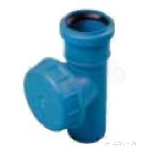 Polypipe Terrain Hdpe -  Acoustic Db12 50mm Access With Cap As650901