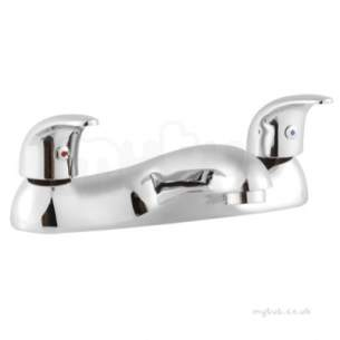 Twyfords Contemporary Brassware -  Aquations Premiere Deck Mounted 2 Tap Bath Filler Aq5858cp