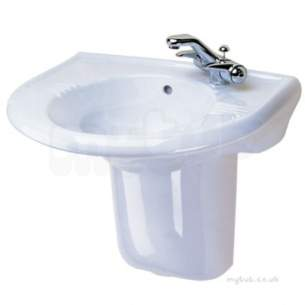 Twyfords Luxury -  Avalon Washbasin 600x500 2 Tap Av4322wh