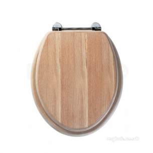 Roper Rhodes Toilet Seats -  Axis 8065li Toilet Seat Limed Oak Chrome