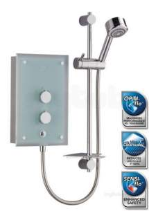 Mira Showers -  Mira Azora 9.8 Kw Chrome Plated Glass