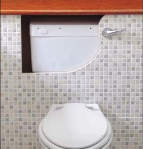Thomas Dudley Cisterns -  White Mirage Concealed Cistern With Side Inlet Side Outlet Excludes Lever