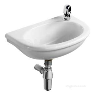 Armitage Sandringham Select -  Armitage Shanks S271401 White Sandringham 450mm Handrinse Basin 1 Right Taphole No Overflow