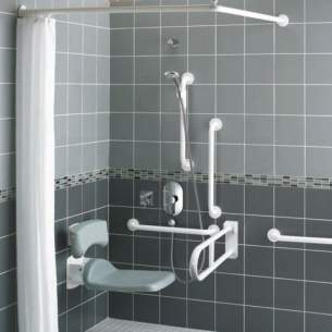 Armitage Shanks Doc M Packs -  Armitage Shanks Contour 21 Doc M White Rails Shower S6960ac