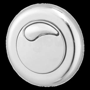 Twyfords Commercial Sanitaryware -  Air Button Dual Flush Small Button Chrome Plated Cf9002cp